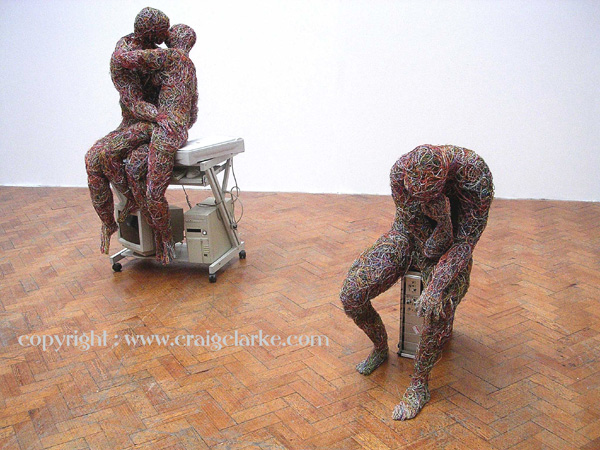 Come and see 'The Kiss' life-sized wire sculpture at Shadow-Gallery Home Art Space